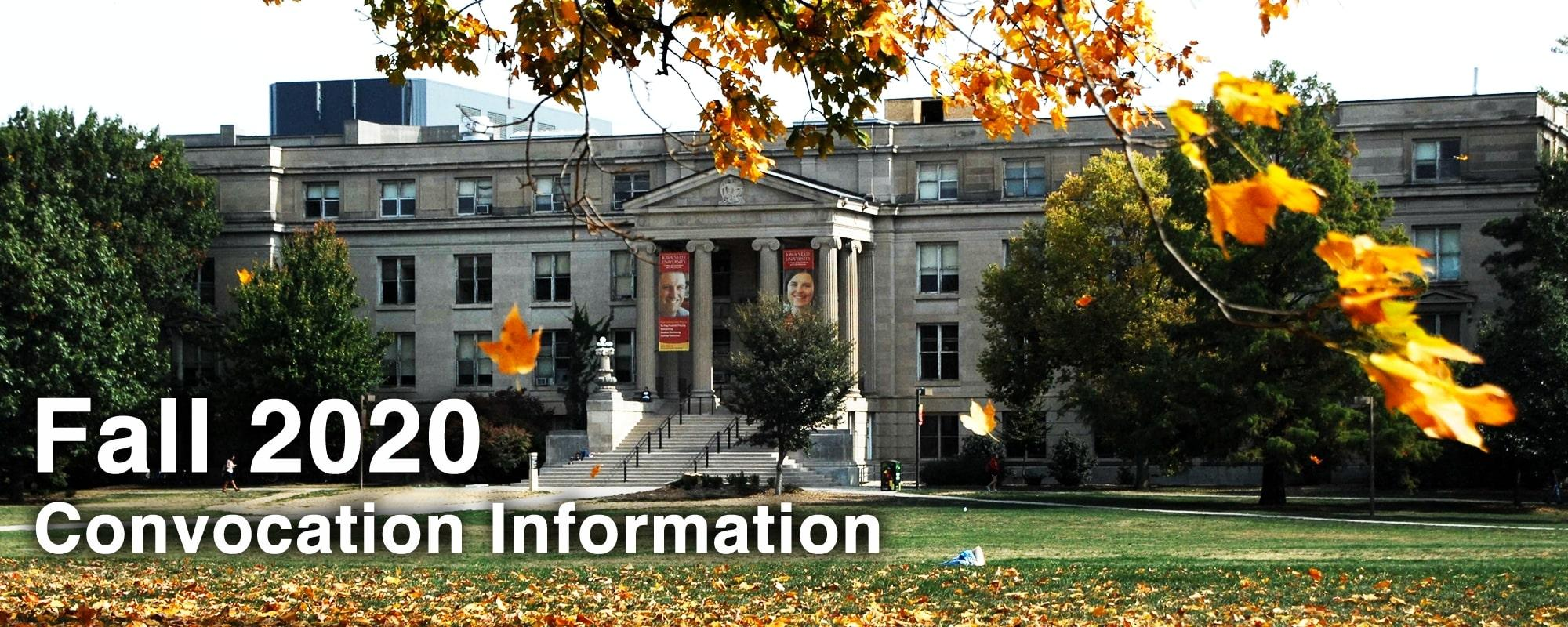 Fall 2020 Convocation Information